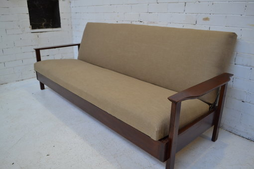 Danish Teak Sofa Bed Settee Archive The Eclectic Rooms